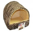 Pets 4 All Kitty Cat Cave Hideout Bed - Animal Prints - Made In USA