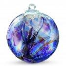 "6"" European Art Glass Spirit Tree ""Chaos Iridized"" Witch Ball Kugel Multi-color"