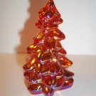 "Mosser Glass MARIGOLD CARNIVAL 2.75"" Mini CHRISTMAS TREE Figurine Made In USA!"