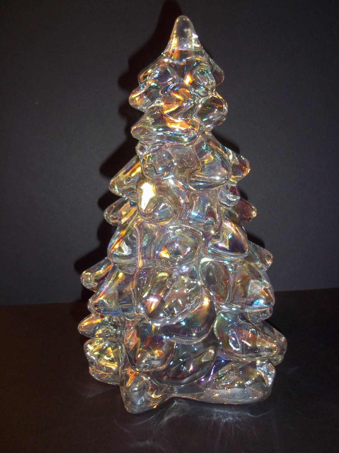 Mosser glass crystal carnival iridized quot christmas tree