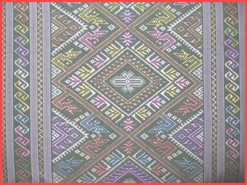 praewa-kalasin-Thaisilk : Special varied-mixed color & pattern : Green