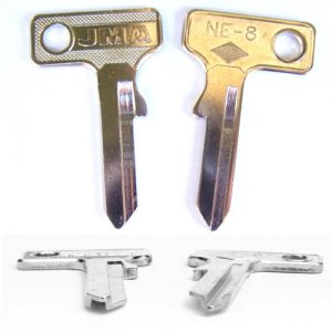 Key Blank Neiman Motorcycle Fork Locks, short