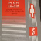 1995 PG & P3 CHASSIS SHOP SERVICE MANUAL GMC CHEVY BOOK