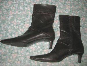 RINALDI MARIPE BROWN LEATHER BOOTS ITALY 37 7 $210 MSRP
