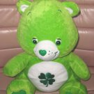 "13"" GREEN GOOD LUCK SHAMROCK 4 LEAF CLOVER CARE BEAR"