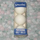 SLEEVE OF 3 SPALDING PRO FLITE GOLF BALLS VINTAGE NEW