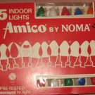 Box of 15 string Christmas lights by Amico Noma 120 volts Cat. 2515A Box Vintage