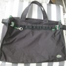 Lacoste Croco Net Shopper Messenger Travel Overnight Duffle Duffel Bag Black