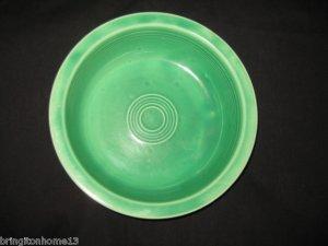 "Vintage Fiesta 8 1/2"" Nappy Bowl in Original Green Glaze"