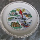 "VINTAGE KENTUCKY STATE SOUVENIR COLLECTOR PLATE 9 1/2"" WARRANTED 23K GOLD"