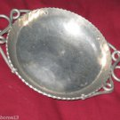 "B.W. BUENILUM CANDY NUT SERVING DISH ALUMINUM BOWL HANDLES LOOPED 8"" VINTAGE"