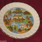 VINTAGE ILLINOIS STATE SOUVENIR COLLECTOR PLATE 7 1/2""