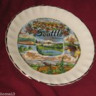 VINTAGE SEATTLE WASHINGTON STATE SOUVENIR COLLECTOR PLATE 7 1/2""