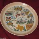 VINTAGE TEXAS STATE SOUVENIR COLLECTOR PLATE SANDERS MFG. CO. 7 1/4""