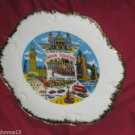 "VINTAGE London Souvenir Porcelain Plate MARKED FOREIGN 8 1/4"" with HANGER"
