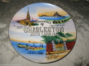 VINTAGE CHARLESTON SOUTH CAROLINA STATE SOUVENIR COLLECTOR PLATE 8""