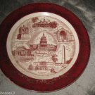 VINTAGE WASHINGTON D.C. STATE SOUVENIR COLLECTOR PLATE TOMB OF UNKOWN SOLDIER