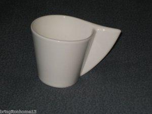 VILLEROY & BOCH GERMANY CAFFE COFFEE CUP NEWWAVE NEW WAVE MUG CLOSED HANDLE