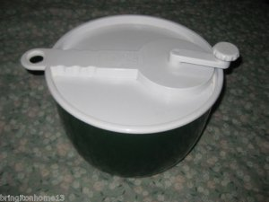 VINTAGE COPCO SALAD SPINNER HERBS WASHER CLEANER GREEN WHITE U.S.A.
