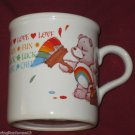 1984 CHEER BEAR COFFEE CUP MUG LOVE FUN LUCK CHEER AMERICAN GREETINGS STONEWARE