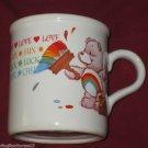 1984 CHEER BEAR COFFEE CUP MUG LOVE FUN LUCK CHEER AMERICAN GREETINGS STONEWARE