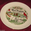 VINTAGE WEST VIRGINIA STATE SOUVENIR COLLECTOR PLATE HOMER LAUGHLIN RHYTHM 9&quot;