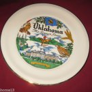 VINTAGE OKLAHOMA STATE SOUVENIR COLLECTOR PLATE THE SOONER STATE  22K GOLD