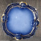 LIMOGES A. LANTERNIER FRANCE COBALT BLUE GOLD GILT PLATE HANDPAINTED 1891-1914