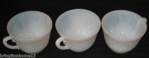3 MacBeth-Evans Glass Company American Sweetheart Monax TEA Cups DEPRESSION