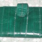 GENUINE EEL SKIN WALLET GREEN COIN PURSE