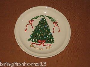 "1978 Christmas Plate Lillian Vernon Carrigaline Pottery County Cork Ireland 7"""