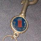 HARLEY DAVIDSON #1 NUMBER ONE AMF Belt loop Carabiner Keychain Clip 70's METAL