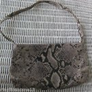 ARIDZA BROSS PARIS FRANCE PYTHON PATTERN HANDBAG PURSE SHOULDER BAG VINTAGE