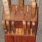 VINTAGE CARVEL HALL CRISFIELD MARYLAND 11 KNIFE SET & BLOCK 6 STEAK KNIVES CARVE