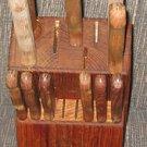 Sold VINTAGE CARVEL HALL CRISFIELD MARYLAND 11 KNIFE SET & BLOCK 6 STEAK KNIVES CARVE