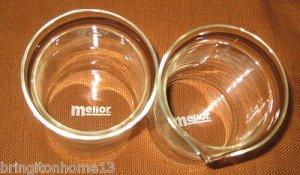 MELIOR COFFEE PRESS REPLACEMENT SPARE GLASS & CARAFE BEAKER ? SET