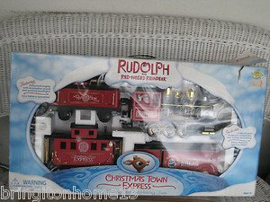 Sold Rudolph the Red Nosed Reindeer Holiday TRAIN SET BOX CHRISTMAS TOWN 12 Ft VIDEO