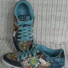 ED HARDY BLUE LOVE KILLS SLOWLY LOWRISE WOMEN'S SNEAKERS SHOES SIZE 11