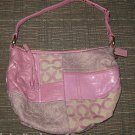 COACH Ali Lilac and Pink Pieced Patchwork Hobo Bag 42681 Purse Handbag Tote