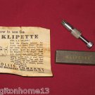 Sold KLIPETTE VINTAGE HOLLIS HAIR REMOVER NOSE EARS GROOMER IN BOX & INSTRUCTIONS