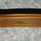 SOLD STAR LARGE PROFESSIONAL 100% HORSEHAIR SHOE SHINE POLISH BRUSH Black Wood
