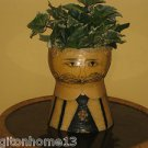 "GEMMA TACCOGNA MALE OPEN HEAD VASE PAPIER MACHE PAPER 13"" 1960s OOAK SIGNED"
