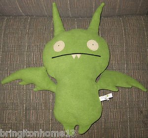 "Uglydoll Green Poe #10241 Doll Plush Stuffed Animal Toy 16 1/2"" Ugly Doll Rare"