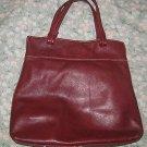Kenneth Cole New York Satchel Handbag Maroon Burgundy Purse