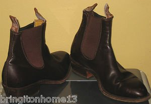 R.M. WILLIAMS CRAFTSMAN YEARLING CHESTNUT BOOTS AU 6 1/2 G MEN'S US SIZE 7 1/2