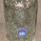 Hofbrauhaus Munich OKTOBERFEST HB DIMPLED STEIN MUG GLASS HEAVY 1 LITRE AUSTRIA