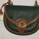 Dooney Bourke All Weather Leather Mini Cavalry Belt Body Bag AWL Ivy Green