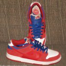 Nike Dunk Low Pro SB Men's Skate Shoes Size 9 1/2 Red White Blue Suede Leather