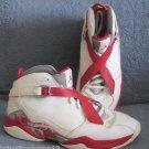Nike Air Jordan 8.0 Retro Size 9.5 White Varsity Red Slvr 467807 101 Men's Shoes
