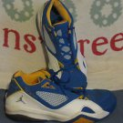 2007 NIKE JORDAN RB EXTREME SHOES SIZE 10 ROYAL BLUE GOLD WHITE 316362-161
